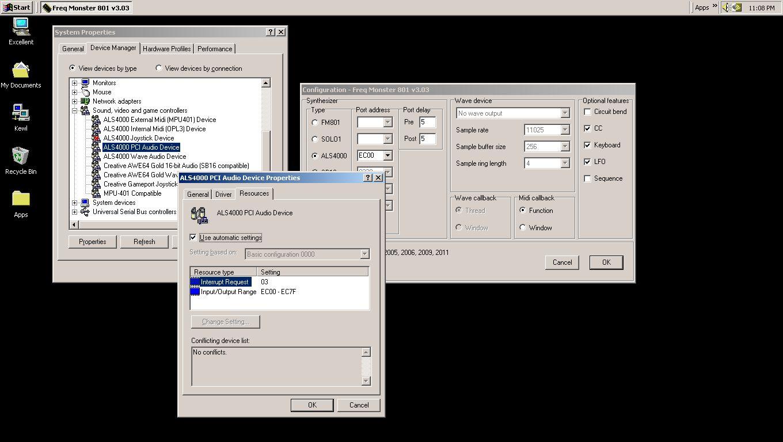 Fortemedia fm801 sound card